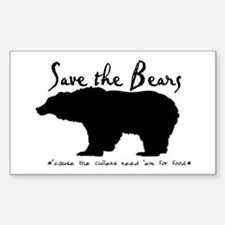 Save the Bears for Cullens Rectangle Decal