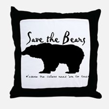 Save the Bears for Cullens Throw Pillow