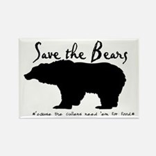 Save the Bears for Cullens Rectangle Magnet