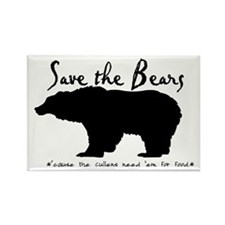 Save the Bears for Cullens Rectangle Magnet (10 pa