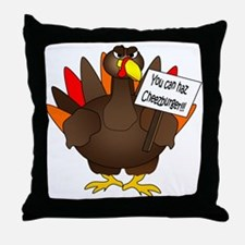 Turkey Burger Throw Pillow