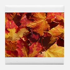 Thanksgiving Autmn Leaves Tile Coaster