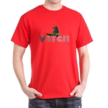 Witches Hat Stars Pink Dark T-Shirt