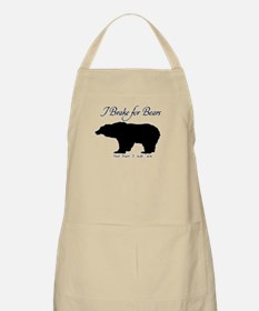 I Brake for Bears and Eat 'Em BBQ Apron