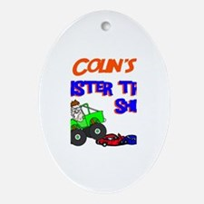 Colin's Monster Truck Oval Ornament