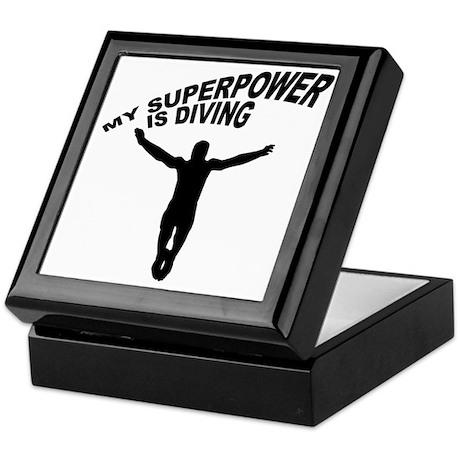 My Superpower is Diving Keepsake Box