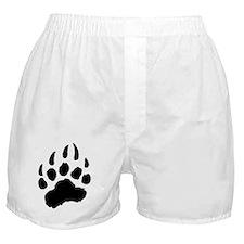 BLACK Bear Paw Boxer Shorts