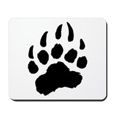 BLACK Bear Paw Mousepad