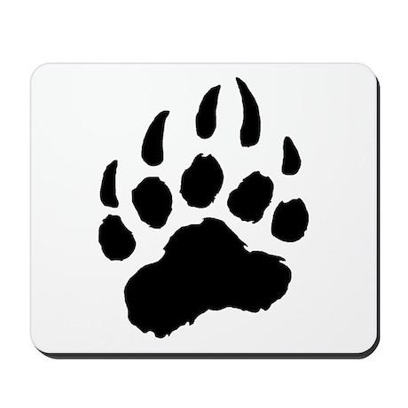 BLACK Bear Paw Mousepad