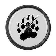 BLACK Bear Paw Large Wall Clock