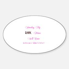 Dark Prince Edward Oval Decal