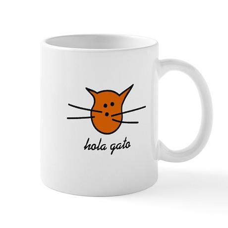 Hola Gato! Orange Kitty Mug