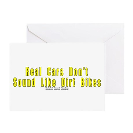 Real Cars Don't Sound ... Greeting Card
