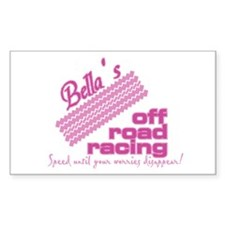 Bella's Off Road Racing Rectangle Decal