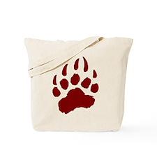 RED Bear Paw Tote Bag