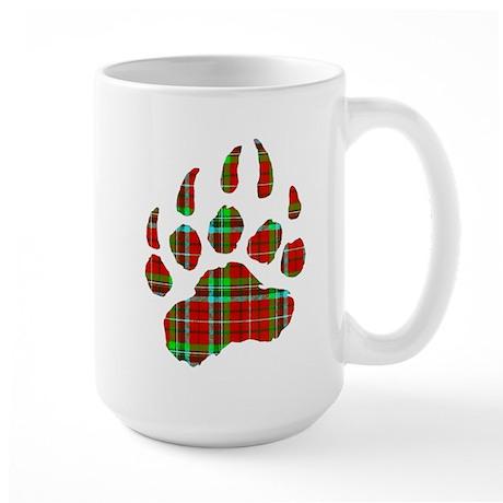 PLAID Bear Paw Large Mug
