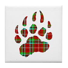 PLAID Bear Paw Tile Coaster
