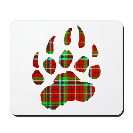 PLAID Bear Paw Mousepad
