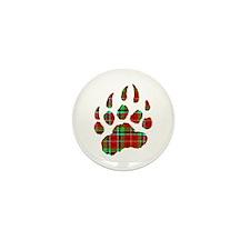 PLAID Bear Paw Mini Button (10 pack)