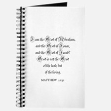 MATTHEW 22:32 Journal