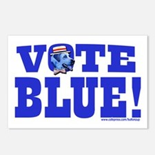 Vote Blue Dem Dog Postcards (Package of 8)