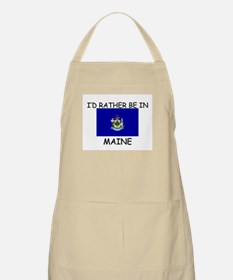I'd rather be in Maine BBQ Apron