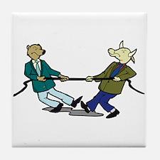 Tug of War Tile Coaster