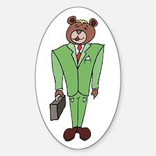 Bear Broker Oval Decal