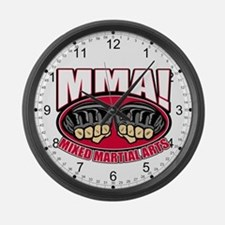 MMA Mixed Martial Arts Large Wall Clock