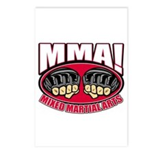 MMA Mixed Martial Arts Postcards (Package of 8)