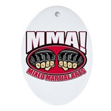 MMA Mixed Martial Arts Oval Ornament