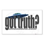 got truth? Rectangle Sticker