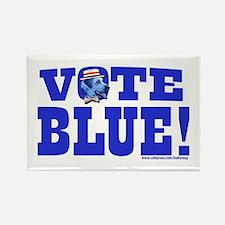 Vote Blue Dem Dog Rectangle Magnet