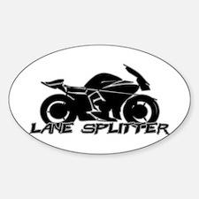 Lane Splitter Sticker (Oval)