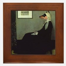 Basenji WHISTLER'S MOTHER Framed Tile
