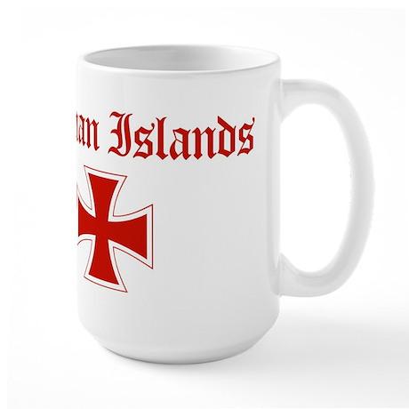 Cayman Islands (iron cross) Large Mug
