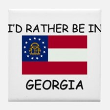 I'd rather be in Georgia Tile Coaster