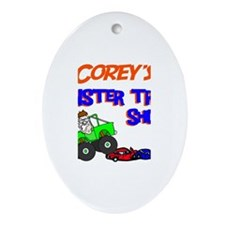 Corey's Monster Truck Oval Ornament