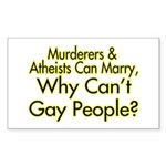 Why Can't Gay People Rectangle Sticker 10 pk)