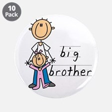 "Big Brother With Little Sister 3.5"" Button (10 pac"