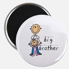 """Big Brother With Little Sister 2.25"""" Magnet (10 pa"""
