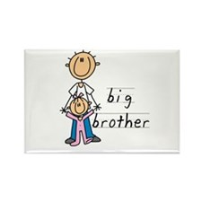 Big Brother With Little Sister Rectangle Magnet (1