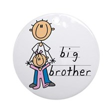 Big Brother With Little Sister Ornament (Round)