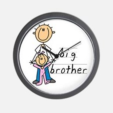 Big Brother With Little Sister Wall Clock