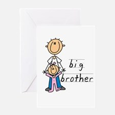 Big Brother With Little Sister Greeting Card