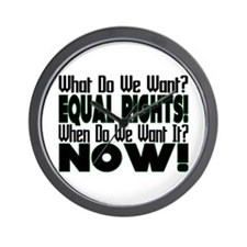 Equal Rights Now Wall Clock