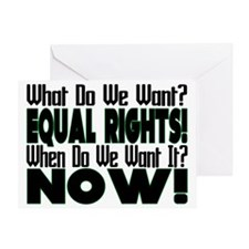 Equal Rights Now Greeting Card