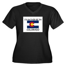 I'd rather be in Colorado Women's Plus Size V-Neck