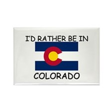 I'd rather be in Colorado Rectangle Magnet (10 pac