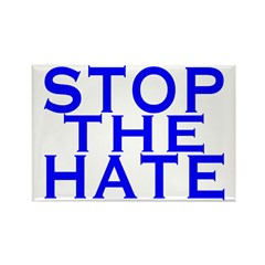 Stop The Hate Rectangle Magnet (100 pack)